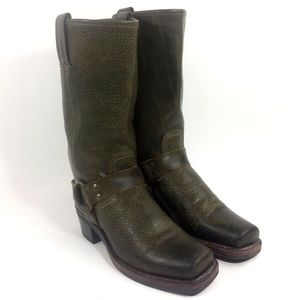 Frye 77300 Harness Green Motorcycle Boot Size 7